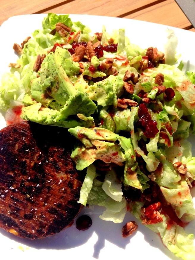salad veg burger